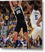 San Antonio Spurs V Golden State Metal Print