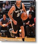 San Antonio Spurs V Los Angeles Lakers Metal Print