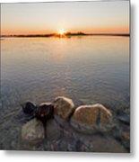 Sunset Over Platte River Metal Print