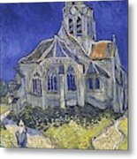 The Church In Auvers Sur Oise  View From The Chevet  Metal Print