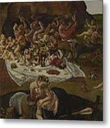 The Fight Between The Lapiths And The Centaurs  Metal Print
