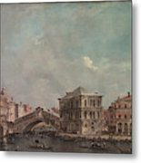 The Grand Canal Above The Rialto  Metal Print