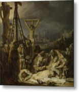 The Lamentation Over The Dead Christ  Metal Print