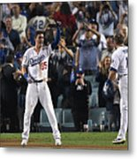 World Series - Boston Red Sox V Los 2 Metal Print
