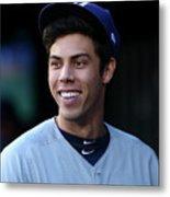 Milwaukee Brewers V New York Mets 20 Metal Print