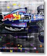 2010 Red Bull Rb6 Vettel Metal Print