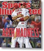 2011 World Series Game 7 - Texas Rangers V St Louis Sports Illustrated Cover Metal Print