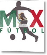 2018 Soccer Cup Mexico Flag Mex Championship Iso Metal Print