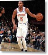 Memphis Grizzlies V New York Knicks Metal Print