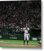 Seattle Mariners V Oakland Athletics 22 Metal Print