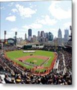 St Louis Cardinals V Pittsburgh Pirates Metal Print