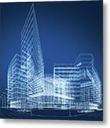 3d Architecture Abstract Metal Print