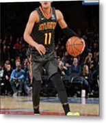 Atlanta Hawks V New York Knicks Metal Print