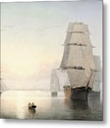 Boston Harbor  Sunset  Metal Print