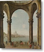 Capriccio With St. Pauls And Old London Bridge Metal Print