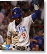 Chicago Cubs V Arizona Diamondbacks Metal Print