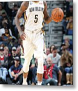 Cleveland Cavaliers V New Orleans Metal Print