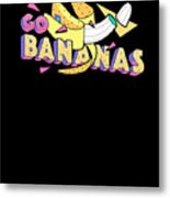 Go Bananas Good Old Times Born In The 90s Retro Rustic Metal Print
