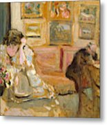 Jos And Lucie Hessel In The Small Salon  Rue De Rivoli  Metal Print