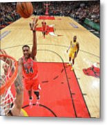 Los Angeles Lakers V Chicago Bulls Metal Print