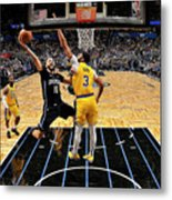 Los Angeles Lakers V Orlando Magic Metal Print