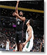 Milwaukee Bucks V Brooklyn Nets Metal Print