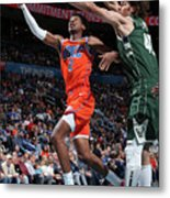 Milwaukee Bucks V Oklahoma City Thunder Metal Print