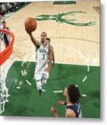 New Orleans Pelicans V Milwaukee Bucks Metal Print