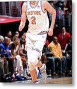 New York Knicks V La Clippers Metal Print