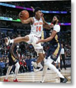 New York Knicks V New Orleans Pelicans Metal Print