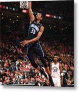 Orlando Magic V Toronto Raptors - Game Metal Print