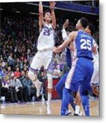 Philadelphia 76ers V Sacramento Kings Metal Print