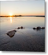 Platte River At Dusk Metal Print