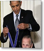 President Obama Honors Medal Of Freedom 3 Metal Print