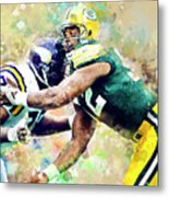 Reggie White. Green Bay Packers. Metal Print
