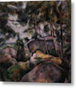Rocks In The Forest  Metal Print
