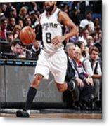 San Antonio Spurs V Brooklyn Nets Metal Print