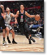 San Antonio Spurs V La Clippers Metal Print