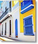 Streets Of San Juan - Puerto Rico Metal Print