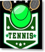 Tennis Player Tennis Racket I Love Tennis Ball Metal Print