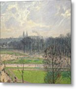 The Garden Of The Tuileries On A Winter Afternoon  Metal Print