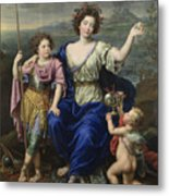 The Marquise De Seignelay And Two Of Her Sons  Metal Print