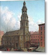The North Dutch Church  Fulton And William Streets  New York  Metal Print