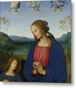 The Virgin And Child With An Angel  Metal Print