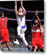 Washington Wizards V Philadelphia 76ers Metal Print