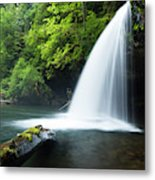 Waterfall In A Forest, Samuel H Metal Print