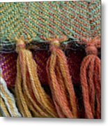 Wool Textile Background Metal Print