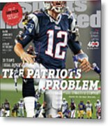 31 Teams, 1 Goal Stop Tom Brady, 2017 Nfl Football Preview Sports Illustrated Cover Metal Print