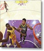 Golden State Warriors V Los Angeles Metal Print