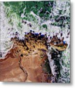 Aerial View Of The Beach, Newport Metal Print